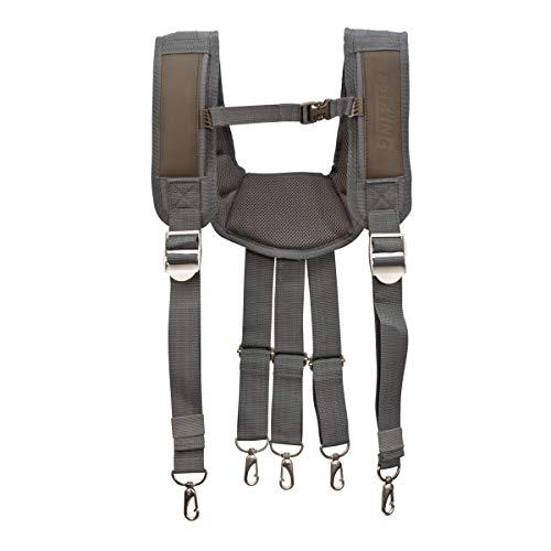 Estwing 94758 Cooling Mesh Padded Tool Belt Suspenders 2' Leather Work Belt
