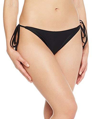 Ocean Blues Women's Black String Tie Sides Bikini Bottoms Small