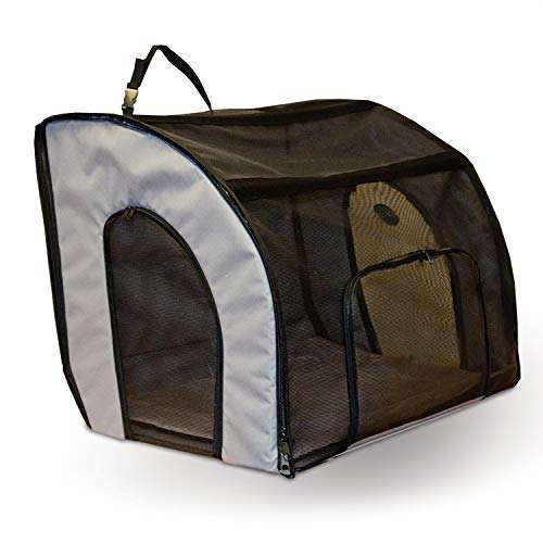 K&H Pet Products Travel Safety Carrier for Pets Gray/Black Medium 24 X 19 X 17 Inches