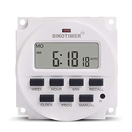 Ballylelly 12V wöchentlich 7 Tage Digital programmierbare Zeitschaltuhr Timer-Steuerung Countdown-Rückruf für Elektrogeräte