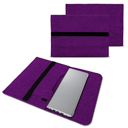 NAUC Notebook Tasche Hülle kompatibel für Lenovo Yoga C930 900 900 S 910 510 520 530 710 720 730 13,3-14 Zoll Filz Sleeve Schutzhülle Filz, Farben:Lila