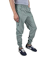 Premium Quality Casual Cargo Stylish Joggers Relaxed Fit with 3 Pockets for Men