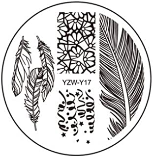Nail Stamping Plates 20 Styles For Choice Nail Art Round Stainless Stamping Template DIY Polish Templates Y17