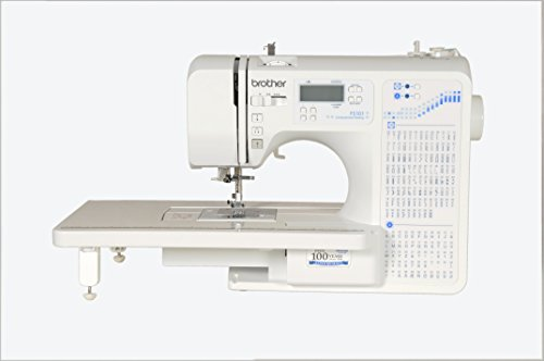 Brother Fs 101 Computerized Sewing Machine With Wide Table,White