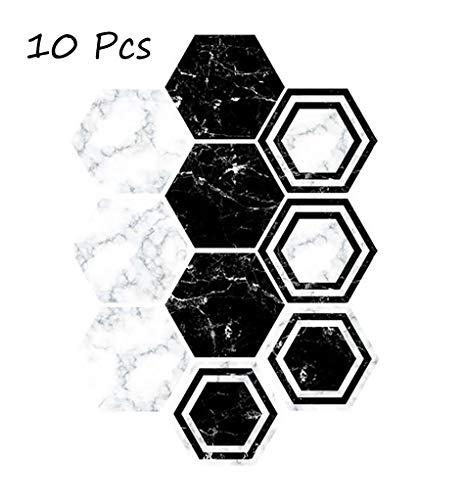 Floor Sticker Floor Wallpaper, Easy-Clean Non-Slip Splashback Tegels Sticker Voor Keuken Badkamer, Zelfklevend Peel En Stick PVC Wandtegels DIY Decor Van Het Huis,E