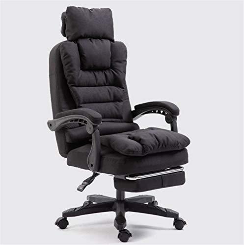 Silla de ordenador de tela para el hogar de ocio jefe de la silla de reposacabezas extraíble y lavable de oficina giratoria silla de masaje
