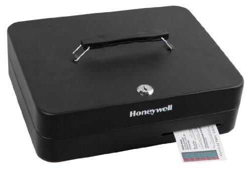small Safe and Door Lock Honeywell – 6113 Deluxe Key Lock Cash Drawer, 0.23 cu.Lid, black