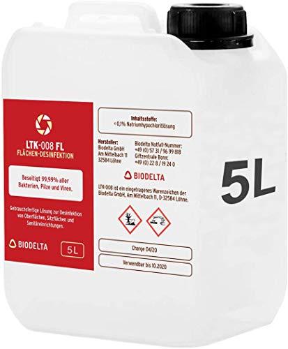 5L Flächen Desinfektionsmittel - Kanister - LTK 008 - Made in Germany - Flächendesinfektion