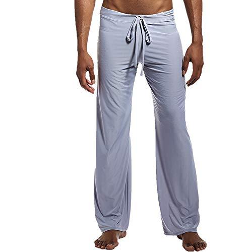 Hombres Yoga Running Pantalones Primavera Verano Hielo Seda Pantalones Gimnasio Fitness Casual Hombres Sólido
