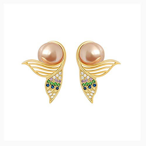 Pendientes Circón Con Tachuelas Diamantados, Pendientes Placas De Perlas, Pendientes Moda Para Mujeres Y Niñas, Banquete Nupcial Regalos Fiesta De Lujo