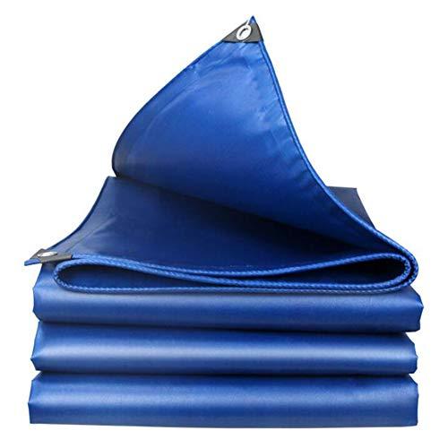 Lonas De PVC Impermeables,Lona Resistente Al Desgarro,con Ojales Y Bordes Reforzados,Cubiertas De Hoja De Tierra A Prueba De Lluvia,Multiusos Al Aire Libre(Color:Azul,Size:2 × 3 m)