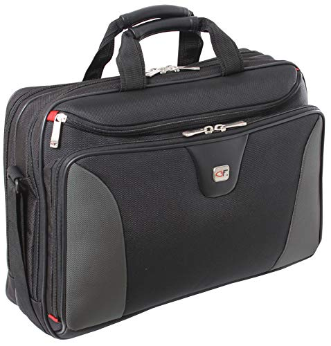 Large 17 Inch Laptop Pilot Case - Cirrus by Gino Ferrari with 17' (43cm) Padded Laptop Compartment | Quality Tested Zips, Handles and Shoulder Straps | Large Pockets for Accessories & Documents GF544