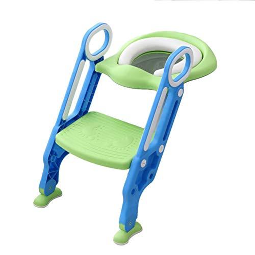 Sinbide Toilet Scalinata Sedile WC per bambini Seduta per orinatoio Formazione per Bambini Piccoli 1-7 anni (Verde)