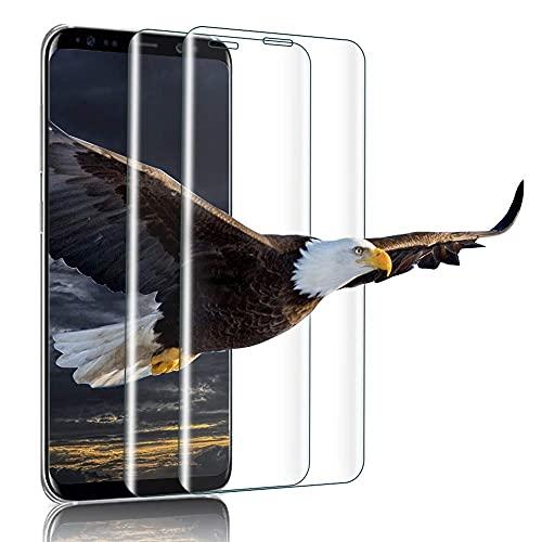 wsiiroon 2 Stück Panzerglas Schutzfolie Kompatibel mit Samsung Galaxy S8, 9H Härte, Anti-Öl, HD Displayschutzfolie, Anti-Kratzen, Anti-Öl, Anti-Bläschen Panzerglasfolie für Samsung Galaxy S8