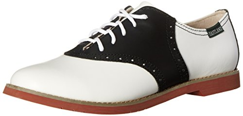 Eastland Women's Sadie Oxford, Black/White, 6 M US