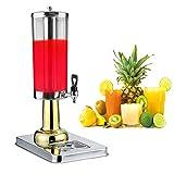 JACKBAGGIO 3L~24L新しいステンレスホーム/商業のレストラン丸い飲み物ディスペンサーを飲む冷たい飲み物機械と冷たい氷ジュース豆乳ディスペンサー(3リットル1ガロン、金)