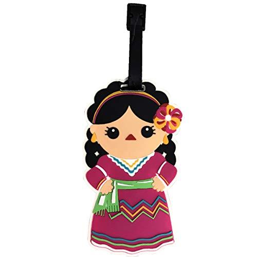 By Mexico Gepäckanhänger, mexikanische Puppen/Muñecas Mexikanisches Design