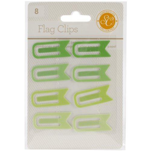 Studio Calico-Essentials Flagge Clips, 0,5von 1,25, grünen, 8er Pack