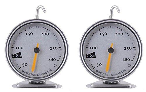 2X Ofenthermometer Thermometer mit großer Anzeige (2Stück)