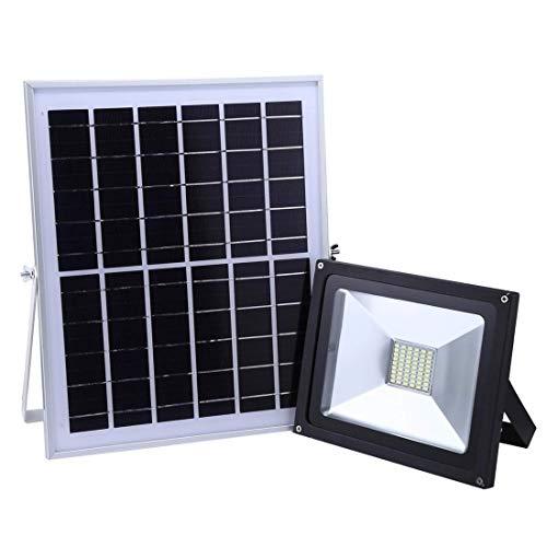 ZTBXQ Haushaltsbedarf wasserdichte Solarleuchten Dekoratives Hängen im Freien30W 54 LEDs IP65 Wasserdichtes Smart Solar-Flutlicht mit Solarpanel-Fernbedienung