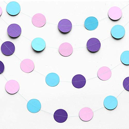 Boston Creative Company Mermaid Party Decoration - Raindrop Garland - Ombre Garlands - Purple, Lilac, Blue Turquoise - Birthday Decoration - Paper Garlands - Mermaid Birthday -