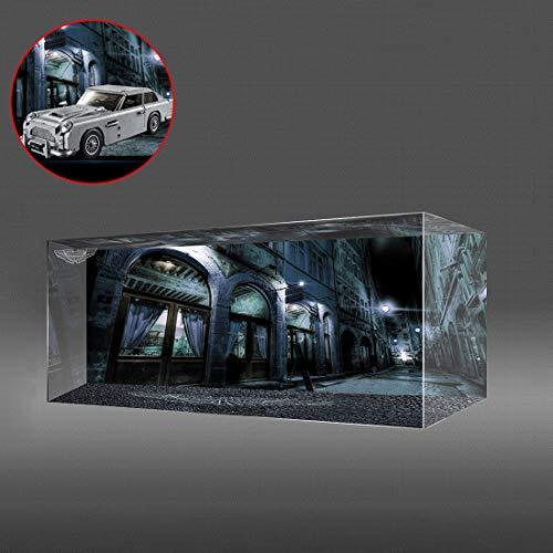 TETAKE Vitrine Schön Display Case mit Licht für Lego James Bond Aston Martin DB5 - Creator 10262 (Nicht Enthalten Lego Modell)
