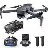 rzoizwko Drone, Quadcopter RC Plegable, Drone GPS para Adultos, 4K HD con cámara FPV, Gimbal de 2 Ejes, Motor sin escobillas, Distancia de Control Remoto de 1200M 1 Batería Adicional y Bolsa de almac