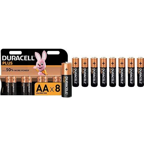 Duracell Plus AA - Pilas Alcalinas Paquete de 8 + Duracell Plus AAA - Pilas Alcalinas Paquete de 8