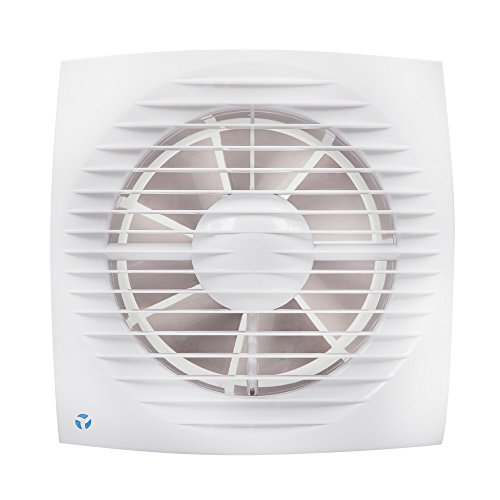 Flujo de aire ventilador Extractor de pared Aria 90000687, 6,3 W, 230 V, color blanco, 100 mm