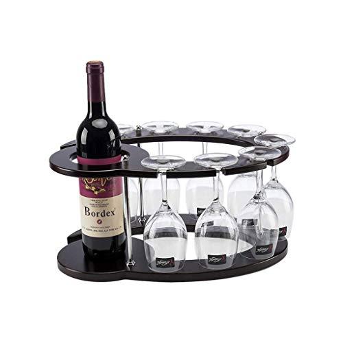NYKK Range Bouteille Stockage du vin Porte Ronde en Bois Personnalité Wine Rack Accueil Kitchen Restaurant Wine Rack Décoration Cabinet Cave Comptoir