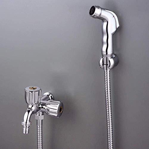 KXA Stainless Steel Bathroom Shower Head Kit Accessory - Handheld Bidet Nozzle Bathroom Cleaning Rinse High Pressure Spray Gun Set Toilet Partner Bidet