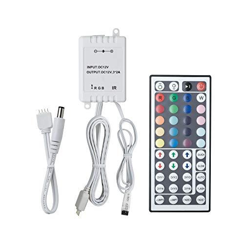 Paulmann 70202 YourLED RGB-Controller für LED Strip mit IR-Fernbedienung Stripe Zubehör Weiß Kunststoff 12V DC Schalten Dimmen Steuern Programmieren