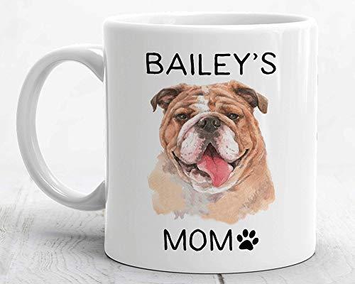 Taza de café para perro o mamá, regalo para amantes de los perros, Bulldog, mamá, café, taza de té, taza de café, taza de té, taza para perro, mamá, mejor regalo para perro mamá, bulldog mamá, mamá, mamá, bulldog mamá