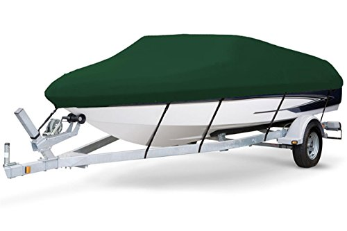 Great Price! 7 oz Solution Dyed Polyester Hunter Green, Styled to FIT Boat Cover for WEERES SUNDECK ...