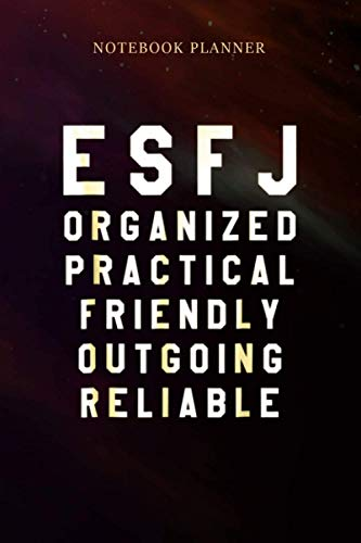 Notebook Planner ESFJ Extrovert Personality: 6x9 inch, Gym, Pretty, Simple, Wedding, Over 100 Pages, Money, Daily