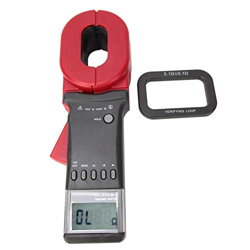 ETCR2000A+ Ground Earth Resistance Tester, Digital Clamp Meter Ground Earth Resistance Meter Tester with LCD Display