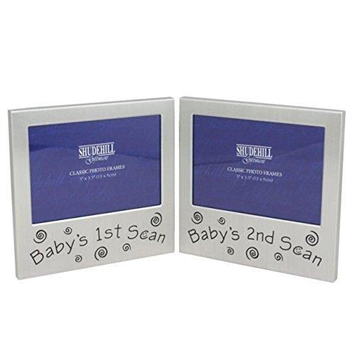 Shudehill Giftware Cadre photo double pour échographies de bébé