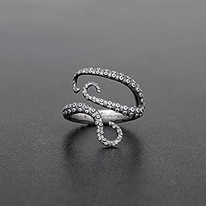 925 Sterling Silber Ring für Männer Ring Männer Schmuck Herren Geschenk Männer Ring Octopus Ring Tentakel Ring Kraken…