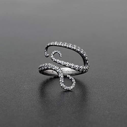 925 Sterling Silber Ring für Männer Ring Männer Schmuck Herren Geschenk Männer Ring Octopus Ring Tentakel Ring Kraken Meer Ring Piraten Ring Gothic Ring
