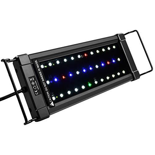 NICREW ClassicLED Plus Ho Lampada Acquario, Plafoniera LED Acquario a Spettro Completo, Luce Acquario Piante Impermeabile, 30-48 cm, 16W 570Lumen