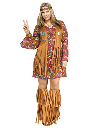 Fun World Peace & Love Hippie Adult Costume Medium/Large