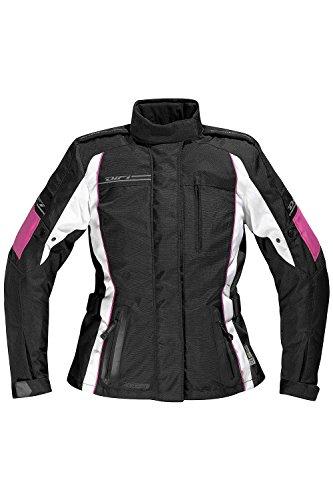 Difi XENIA II AEROTEX® Motorradjacke Damen Farbe schwarz/weiß/fuchsia, Größe 54