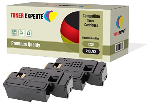 2-Pack Black TONER EXPERTE Compatible Premium Toner Cartridges for Dell 1250c, 1350cn, 1350cnw, 1355cn, 1355cnw, C1760nw, C1765nf, C1765nfw, C17XX