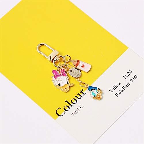 JSJJARF Llavero 2020 Dibujos Animados Lindo Color Oro Metal Llavero Llavero Bolsa Pendiente Encanto Accesorios Juguetes for niños decoración (Color : Pink)