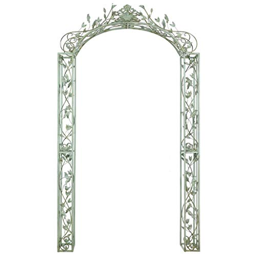 LXLH Arco para Plantas, Arco para jardín, Arco de jardín de Estilo clásico, Arco de jardín para Plantas trepadoras, pérgola al Aire Libre, Arcos de jardín de Metal, 135,5 cm x 25 cm x 236 cm, CIA