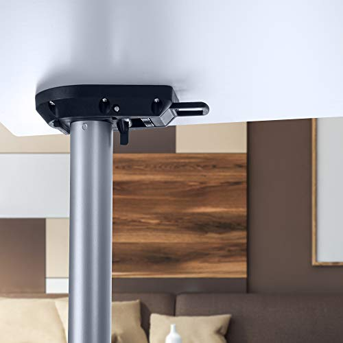 Gedotec Patas plegables para mesa de color plateado mate para muebles, altura ajustable, altura de 705 mm, tubo de pie de 50 mm de diámetro, patas de muebles, capacidad de carga de 100 kg, 1 unidad