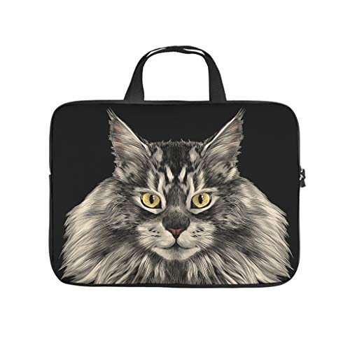 Cat Animal Tablet Carrying Case Slim Lightweight Multi-Functional Stationery 10-17 Inch for Office White 13 Zoll