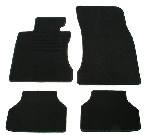 AD Tuning GmbH HG10003 Velours Passform Fußmatten Set Schwarz Autoteppiche Teppiche Carpet Floor mats