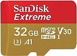 SanDisk Extreme 32 GB Scheda microSD per Mobile Gaming, Prestazioni dell'App A2, Supporta la Grafica Gioco AAA/3D/VR e Video 4K UHD, 100 MB/s di Lettura Classe 10, UHS-I, U3, V30