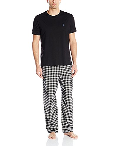 Nautica Men's Short Sleeve Top and Soft Flannel Pajama Pant...